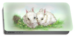 Bunny Love In Color Portable Battery Charger by Bonnie Willis