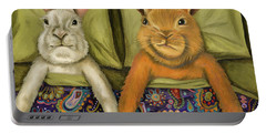 Bunny Love Portable Battery Charger by Leah Saulnier The Painting Maniac