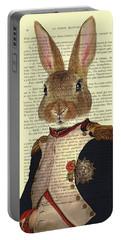 Bunny Portrait Illustration Portable Battery Charger