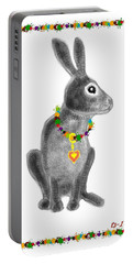 Bunny Post Card Portable Battery Charger