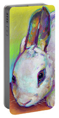 Portable Battery Charger featuring the painting Bunny by Robert Phelps