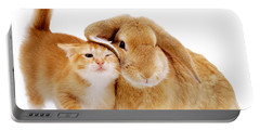 Bunny Rubbing Portable Battery Charger
