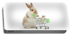 Bunny Shopping Portable Battery Charger
