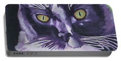 Tuxedo Black And White Cat Portable Battery Charger