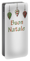 Buon Natale Italian Merry Christmas Portable Battery Charger