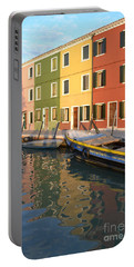 Burano Italy 1 Portable Battery Charger by Rebecca Margraf