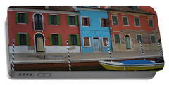 Burano Italy Boat Reflection Portable Battery Charger