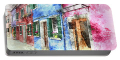 Burano Italy Buildings Portable Battery Charger