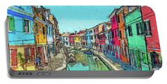 Burano Sketch Portable Battery Charger
