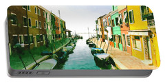 Portable Battery Charger featuring the digital art Burano Venice by Kai Saarto