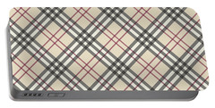 Burberry Pattern Portable Battery Charger