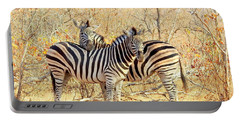 Burchells Zebras Portable Battery Charger by Betty-Anne McDonald