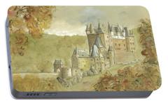 Burg Eltz Castle Portable Battery Charger by Juan Bosco
