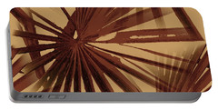 Burgundy And Coffee Tropical Beach Palm Vector Portable Battery Charger