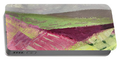 Burgundy Fields Portable Battery Charger