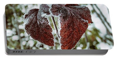 Burgundy Frost Portable Battery Charger