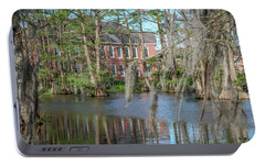 Portable Battery Charger featuring the photograph Burke Hall Cypress Lake by Gregory Daley  PPSA