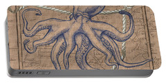Burlap Octopus Portable Battery Charger