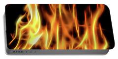 Burning Flames Fractal Portable Battery Charger