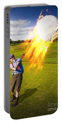 Burning Golf Ball Portable Battery Charger