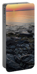 Portable Battery Charger featuring the photograph Burnt Dawn, Camden, Maine  -54019-54020 by John Bald