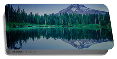Burnt Lake Reflection Portable Battery Charger