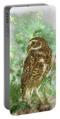 Burrowing Owl In Profile Portable Battery Charger