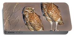 Burrowing Owls At Salton Sea Portable Battery Charger