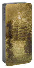 Portable Battery Charger featuring the photograph Bursa, Turkey - Topiary by Mark Forte
