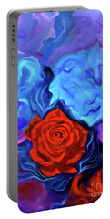 Bursting Rose Portable Battery Charger by Jenny Lee