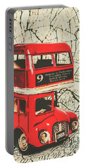 Bus Line Art Portable Battery Charger