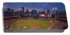 Busch Stadium St. Louis Cardinals Ball Park Village Twilight #3c Portable Battery Charger