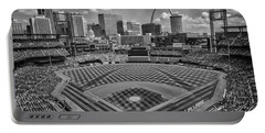 Busch Stadium St. Louis Cardinals Black White Ballpark Village Portable Battery Charger