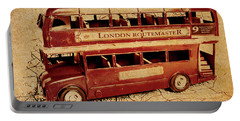 Buses Of Vintage England Portable Battery Charger