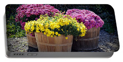 Portable Battery Charger featuring the photograph Bushels Of Fall Flowers by AJ Schibig