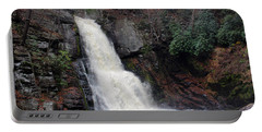 Portable Battery Charger featuring the photograph Bushkill Falls by Linda Sannuti