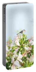 Bushtit Atop The Hibiscus Portable Battery Charger