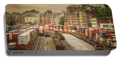 Portable Battery Charger featuring the photograph Busines End Of The City... by Russell Styles