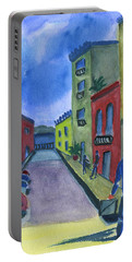 Business In Old San Juan Portable Battery Charger by Frank Bright