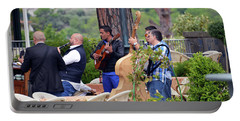 Portable Battery Charger featuring the photograph Busker Band In Ravello - Take One by Harvey Barrison