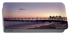Portable Battery Charger featuring the photograph Busselton Jetty Sunrise by Ivy Ho