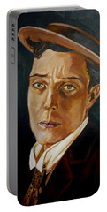 Buster Keaton Tribute Portable Battery Charger by Bryan Bustard