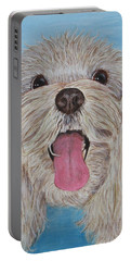 Portable Battery Charger featuring the painting Buster by Nancy Nale