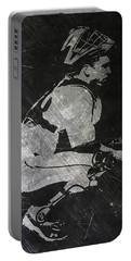 Buster Posey San Francisco Giants Art Portable Battery Charger by Joe Hamilton