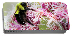Portable Battery Charger featuring the photograph Busy As A Bumblebee by Ricky L Jones