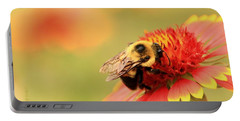 Portable Battery Charger featuring the photograph Busy Bumblebee by Chris Berry