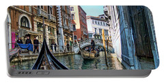 Portable Battery Charger featuring the photograph Busy Canal by Roberta Byram