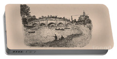 Busy Richmond Bridge And Fishermen Portable Battery Charger