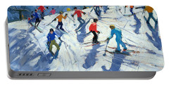 Busy Ski Slope Portable Battery Charger