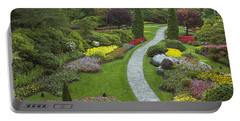 Butchart Gardens Portable Battery Charger by Eunice Gibb